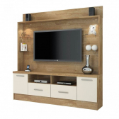 Estante Home P/ Tv Até 56 Polegadas C/ Led Naturale/off Jcm - Mkp000578000162
